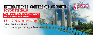 3RD INTERNATIONAL CONFERENCE ON ​YOUTH 2016 ​(ICYOUTH 2016)